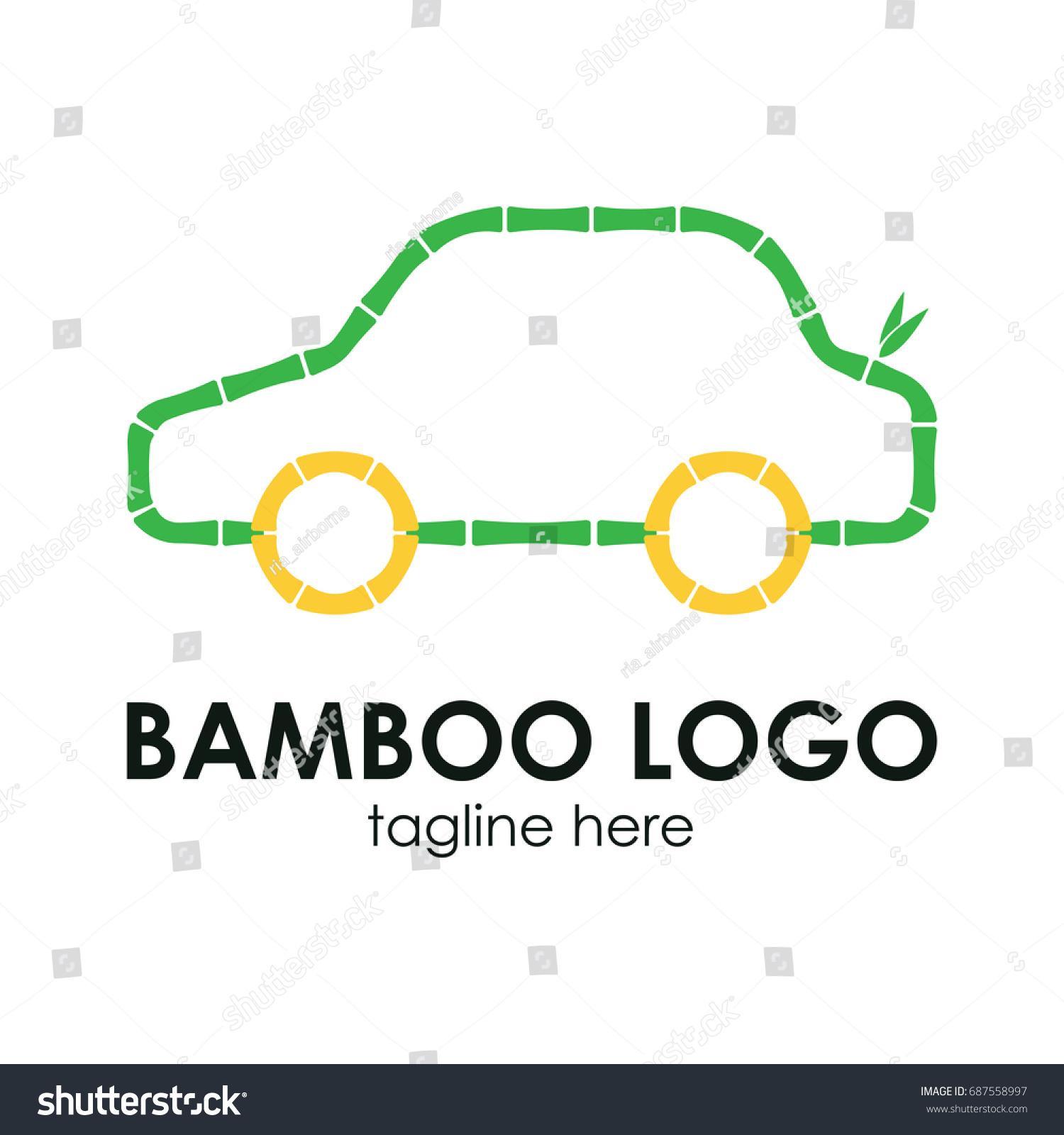 Bamboo Logo Concept Car Care Logo Stock Vector 687558997