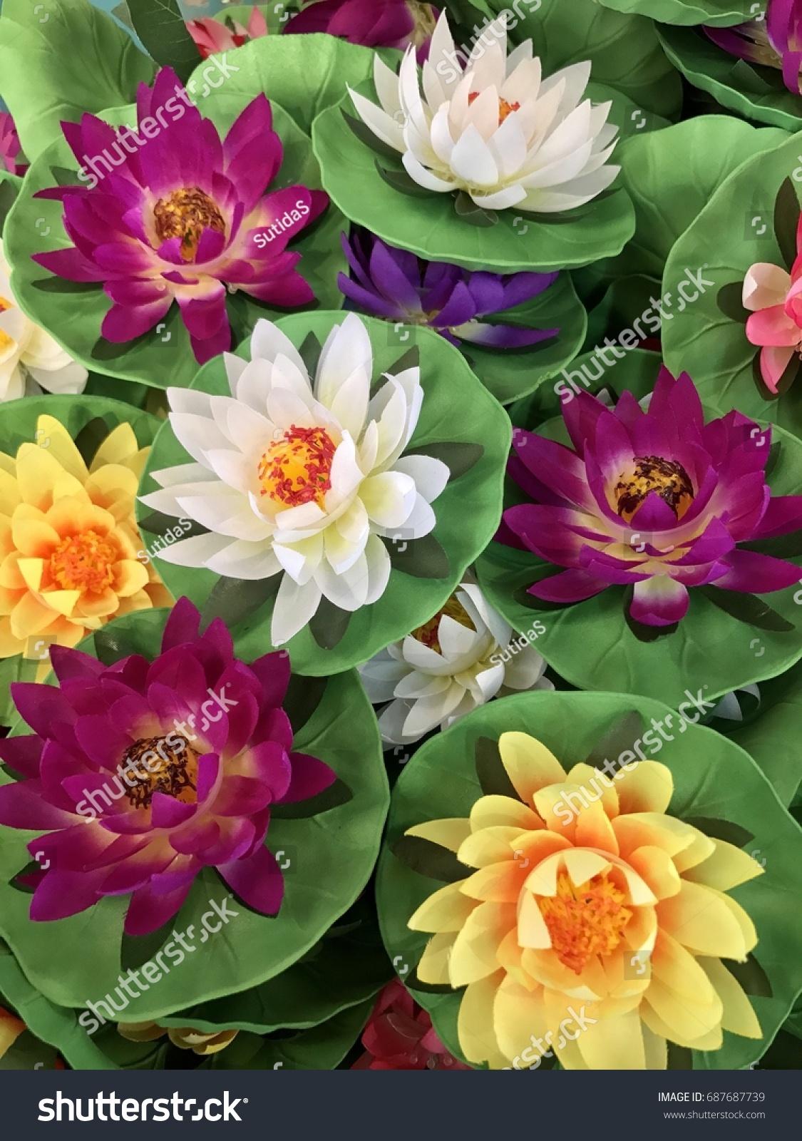 Artificial Lotus Flower Decoration Stock Photo Edit Now 687687739