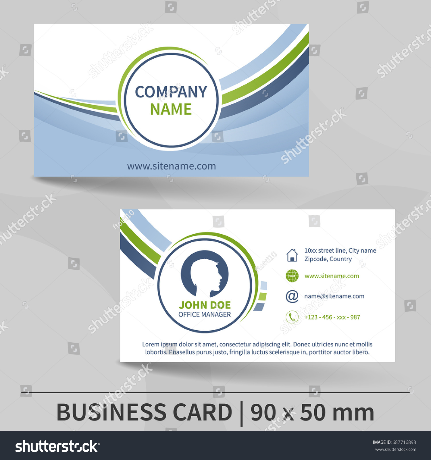 Business card template design your individual stock vector business card template design for your individual or business presentation suitable for printing magicingreecefo Gallery