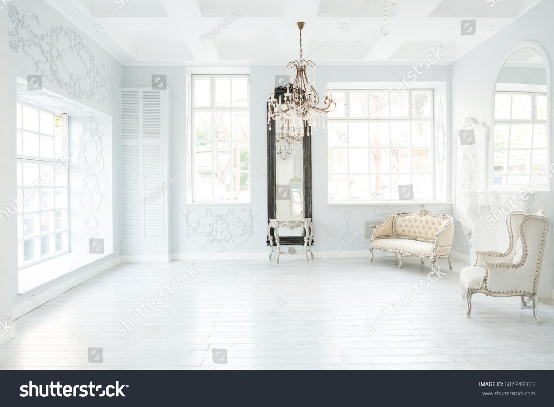 Luxury Rich Living Room Interior Design Stock Photo (Royalty Free ...