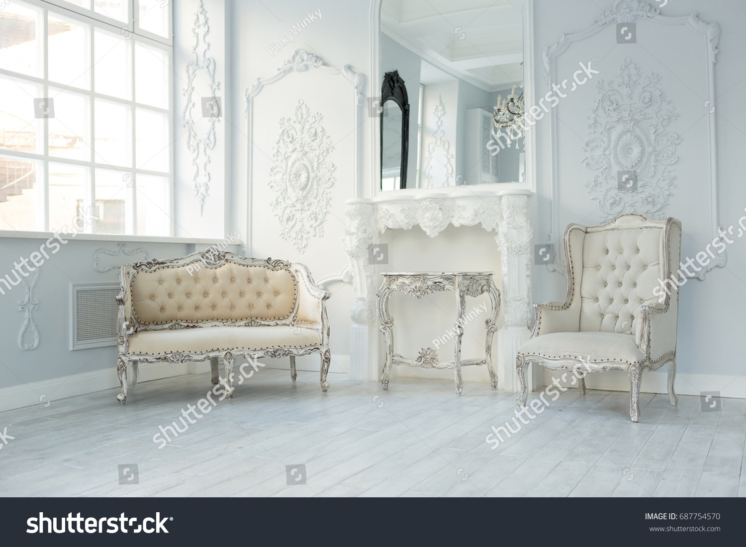 Luxury Rich Living Room Interior Design Stock Photo (Safe to Use ...