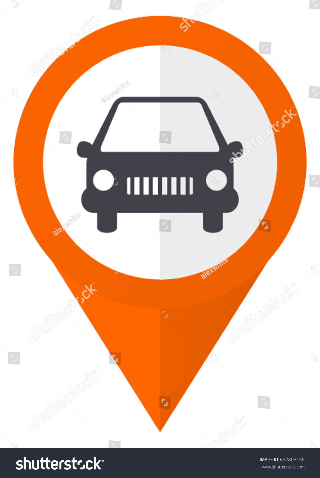 Car auto vehicle orange pointer vector stock vector 687808156 car auto vehicle orange pointer vector icon in eps 10 isolated on white background biocorpaavc