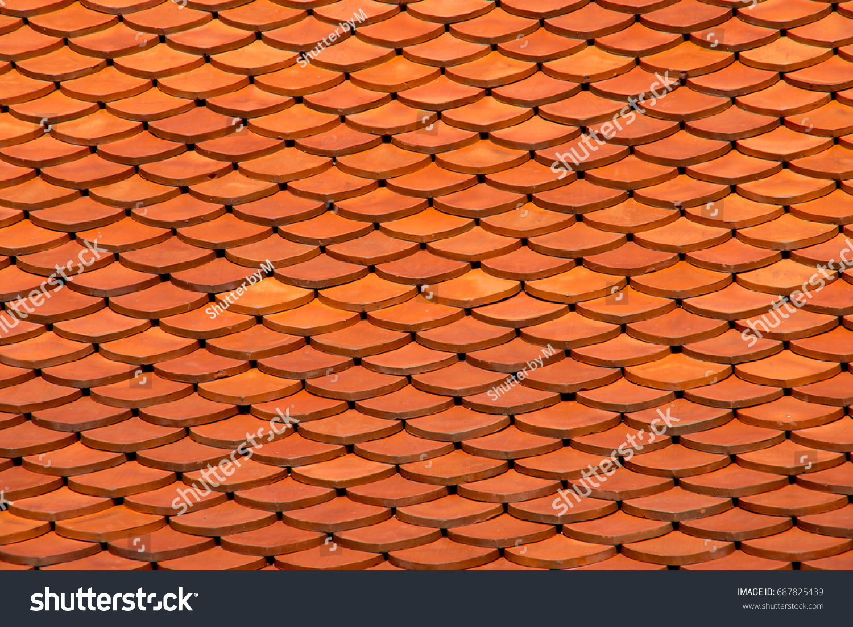 Full orange ceramic tile roof tile stock photo 687825439 full orange ceramic tile roof ceramic tile dailygadgetfo Choice Image