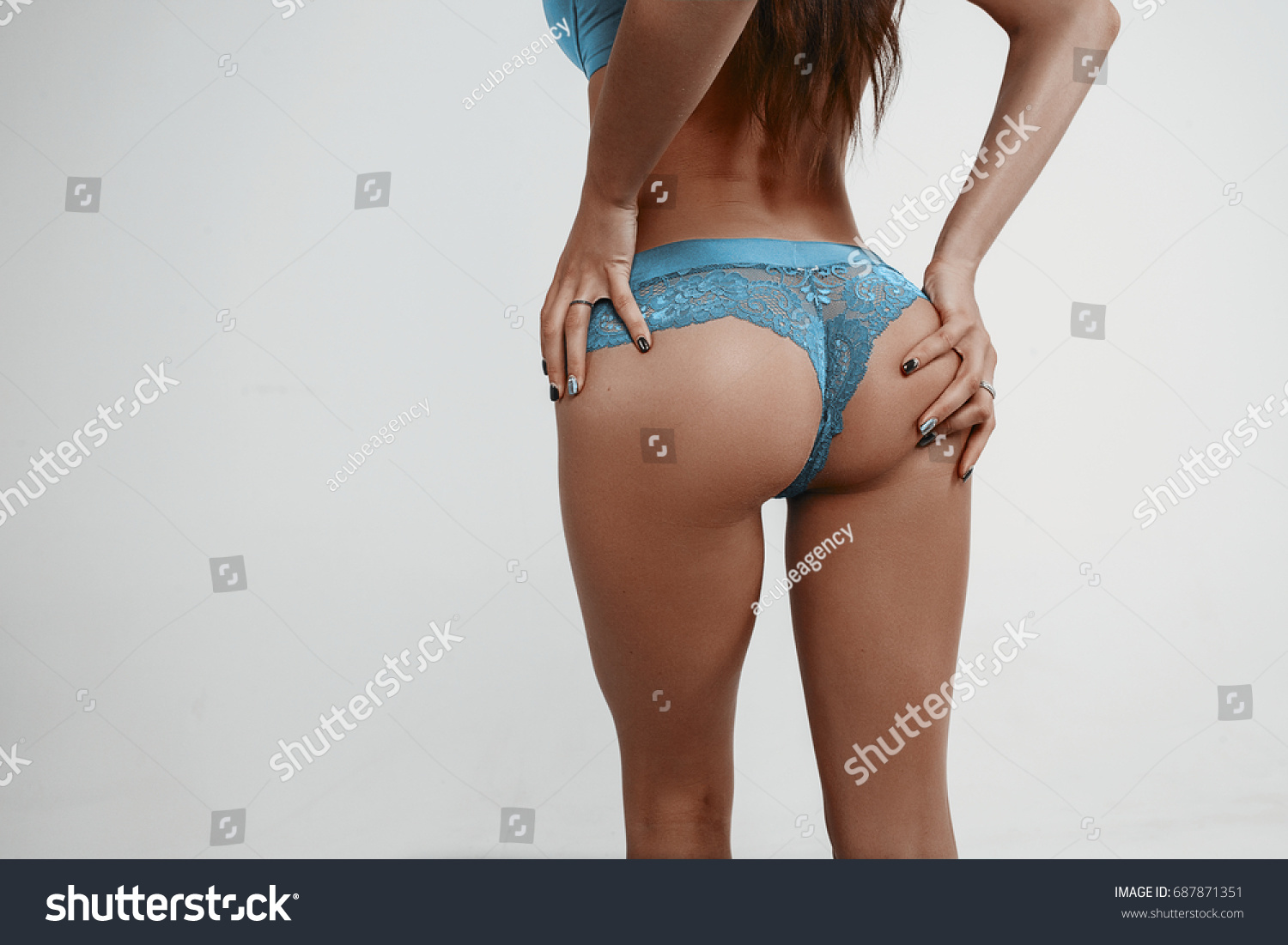 Beautiful Brunette Young Girl Sexy Body Stock Photo Edit Now