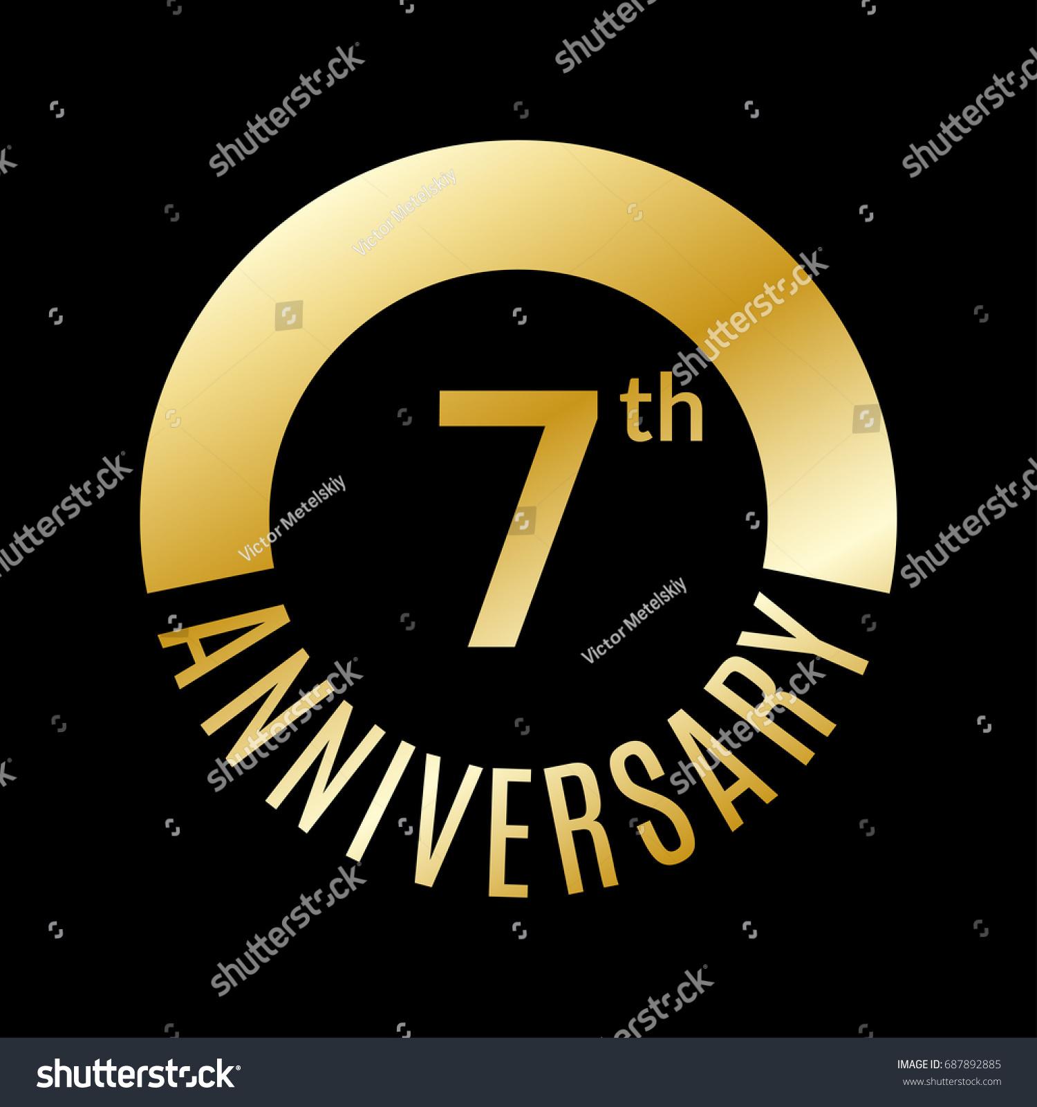 7 year anniversary icon 7th celebration stock vector 687892885 7 year anniversary icon 7th celebration template for banner invitation birthday vector buycottarizona