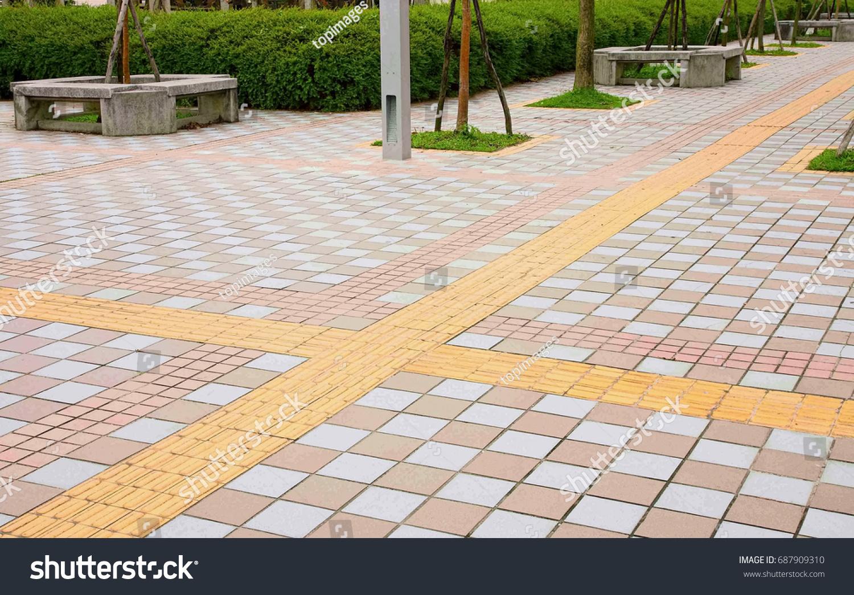 Tactile floor tile stock photo 687909310 shutterstock tactile floor tile dailygadgetfo Choice Image