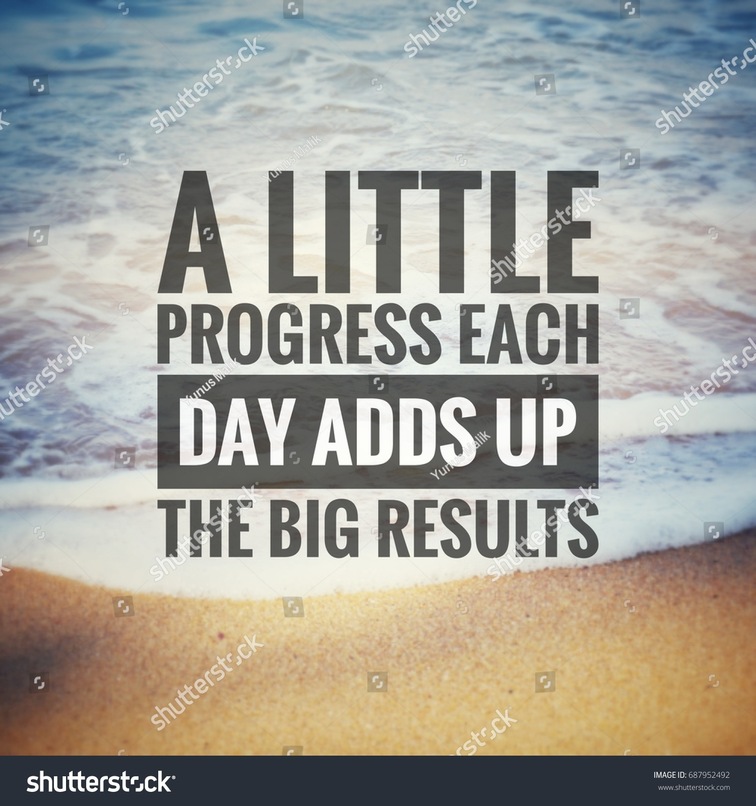Progress Quotes Inspirational Motivation Quotes Little Progress Each Stock Photo .