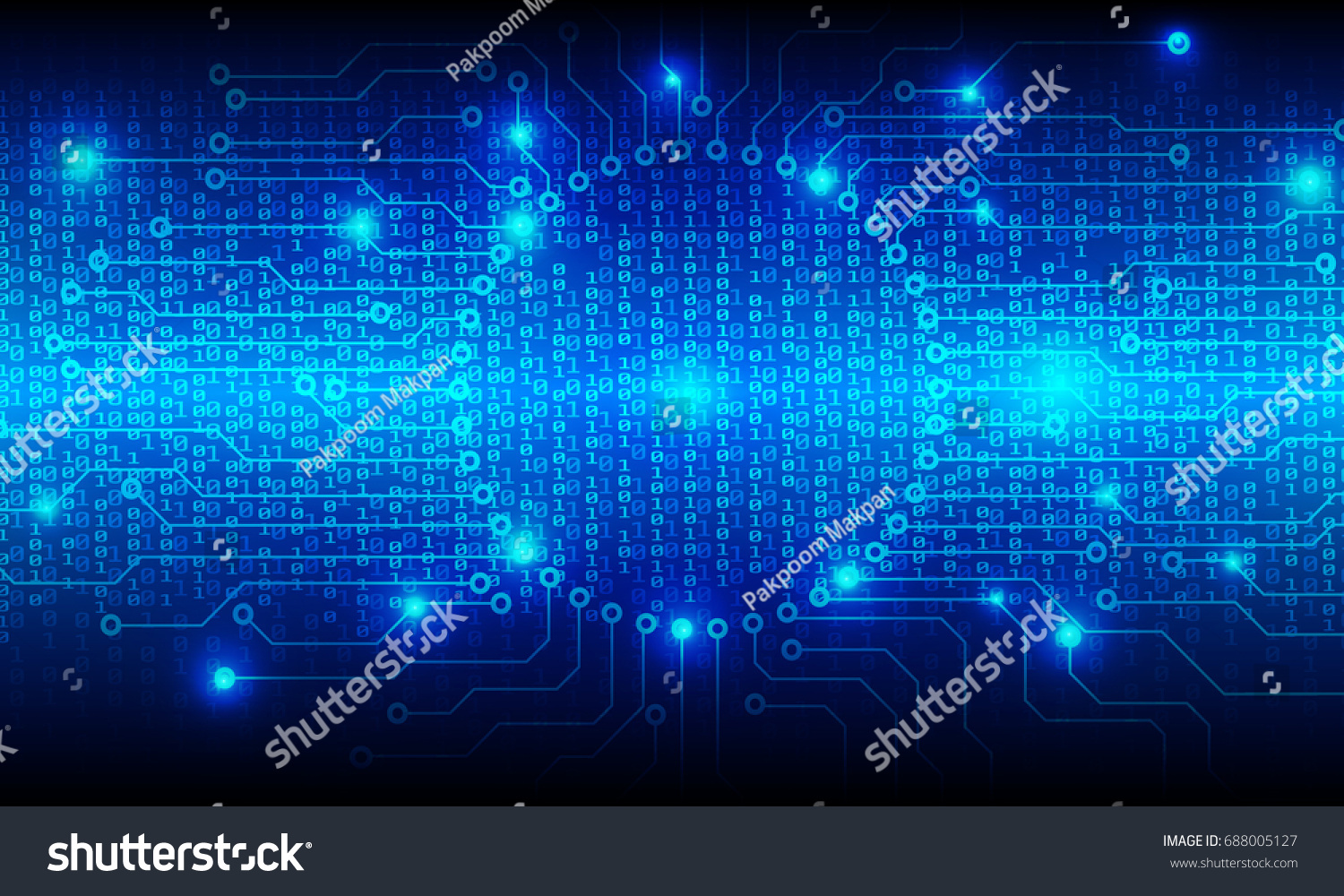 Circuit Board Binary Code Vector Background Stock Royalty Royaltyfree Images With Blue Hi Tech Abstract Circle Pad Center Protection