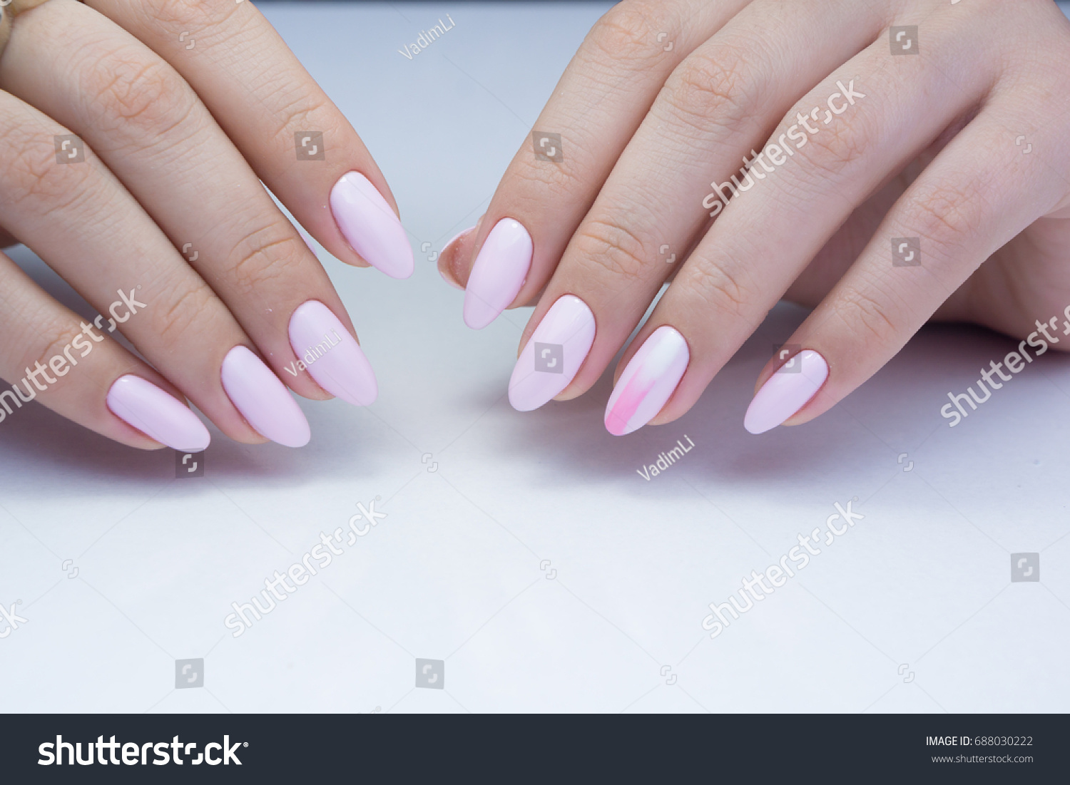 Beautiful Natural Nails Clean Manicure Nail Stock Photo (Edit Now ...