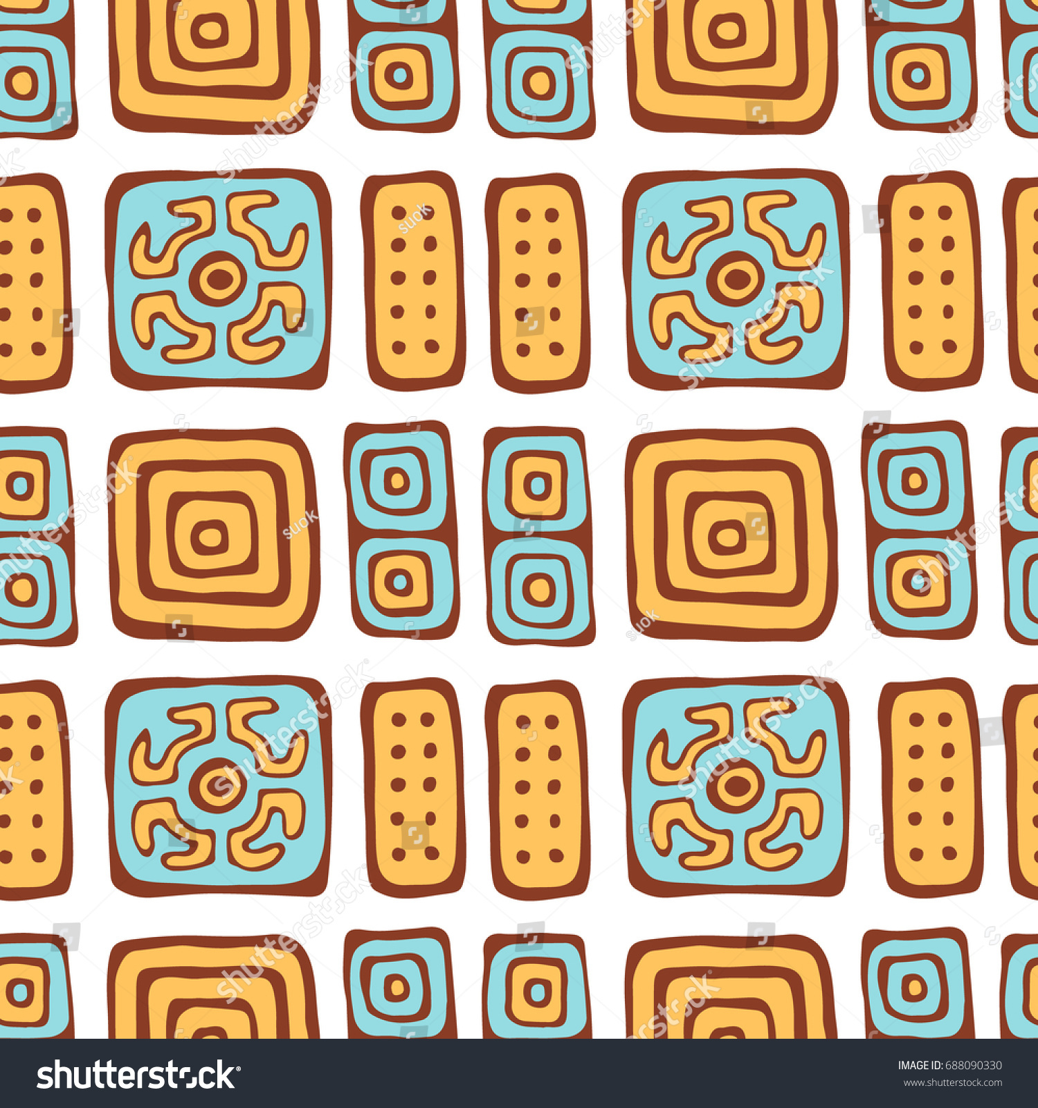 Native american hand drawn seamless pattern stock illustration native american hand drawn seamless pattern abstract illustration for fabric textile design greeting cards kristyandbryce Choice Image