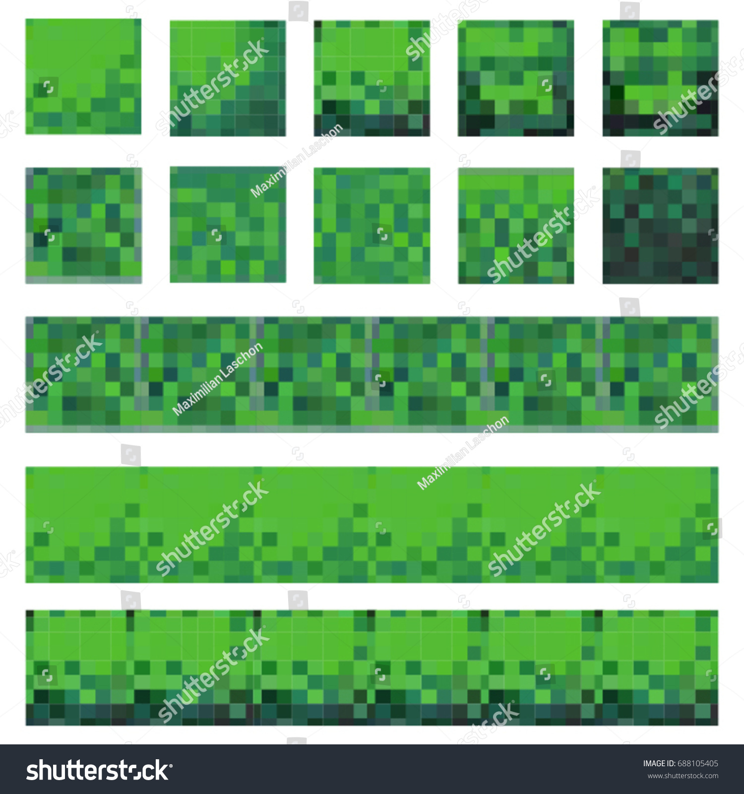 8bit Retro Pixel Art Texture Pack Stock Vector (Royalty Free