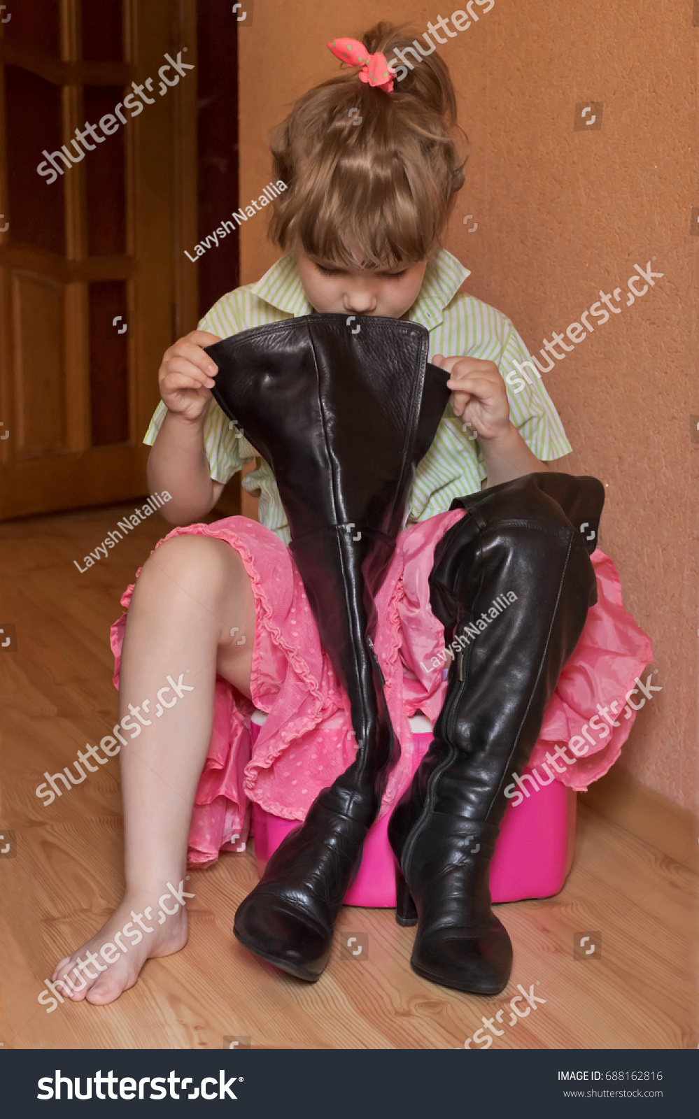 High Black Boots Hessian Boots Little
