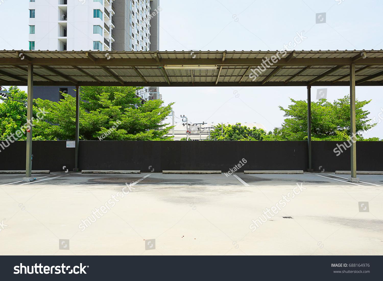 Car Park Empty Open Garage Roofoutdoor Stock Photo Edit Now 688164976