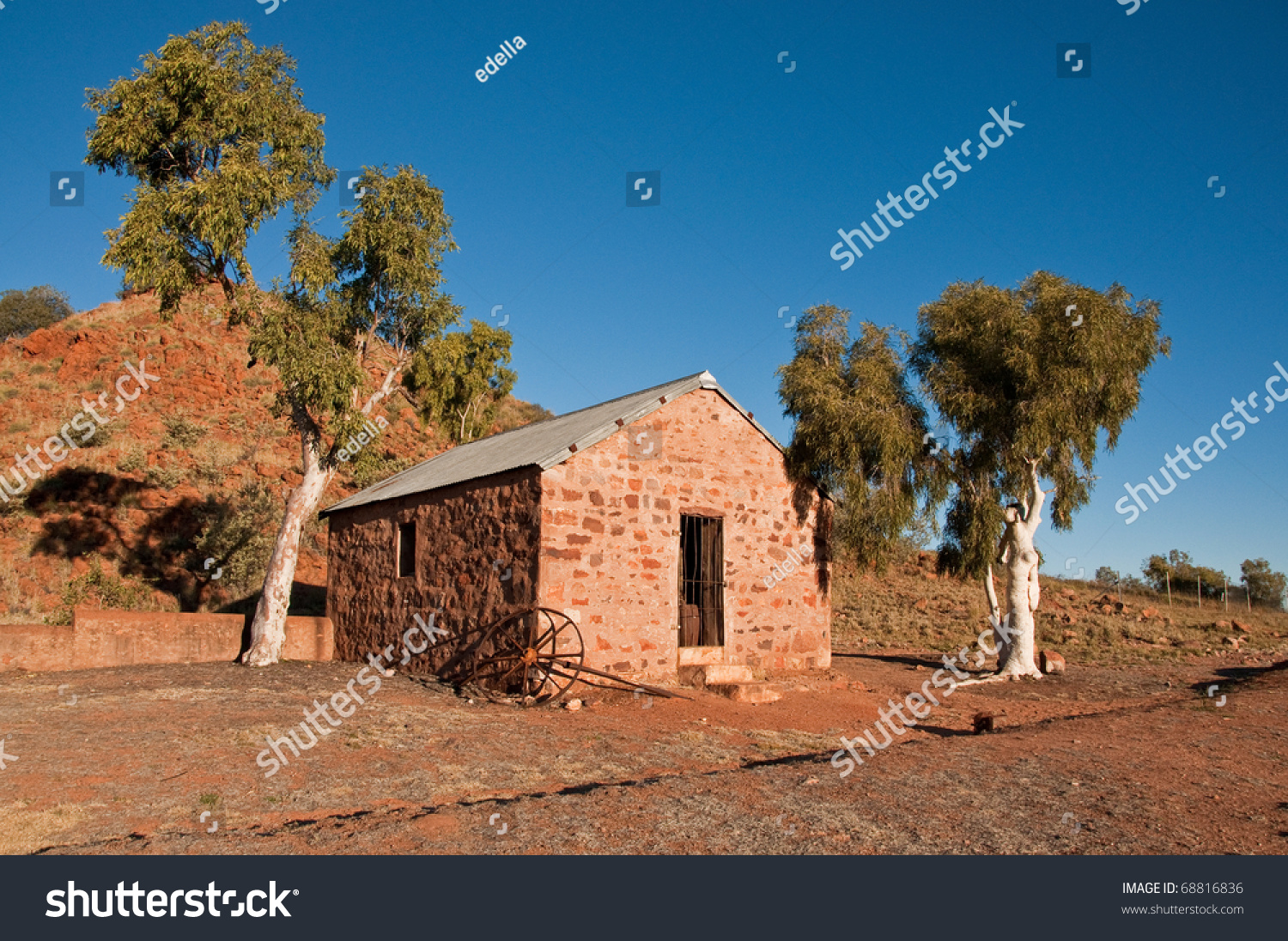 Telegraph Station In The Australian Outback Northern Territory