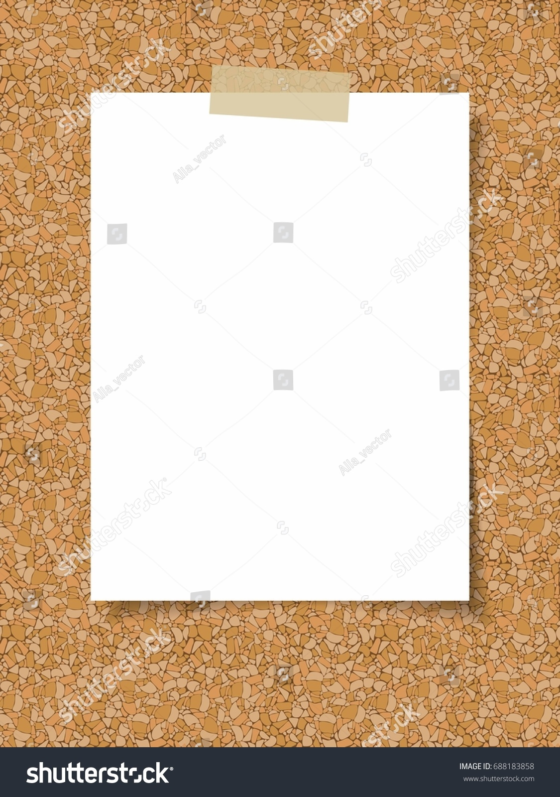 Clean White Sheet Paper On Background Stock Vector (Royalty Free ...