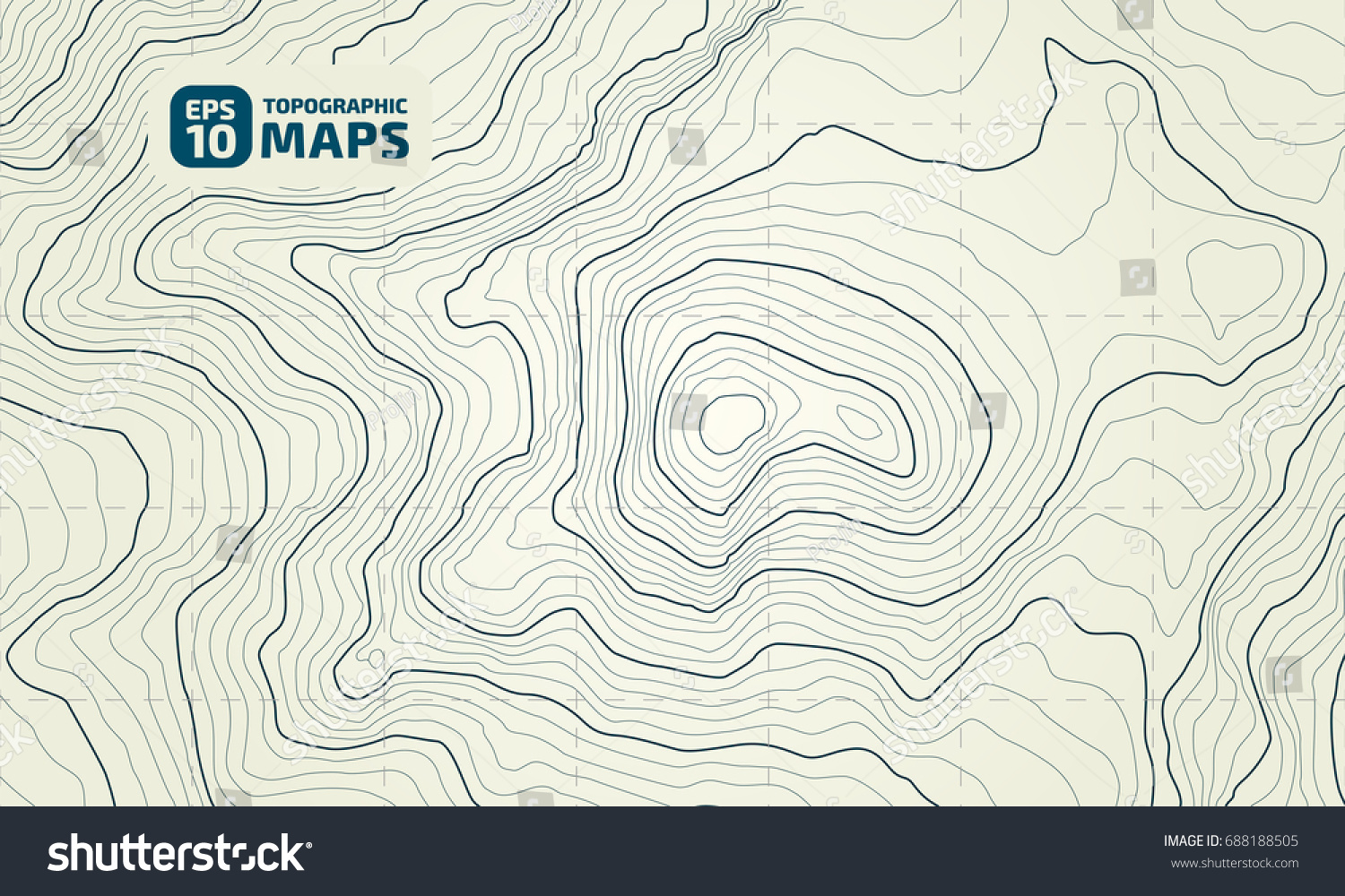 Design In Line : Stylized height topographic contour lines contours stock vector