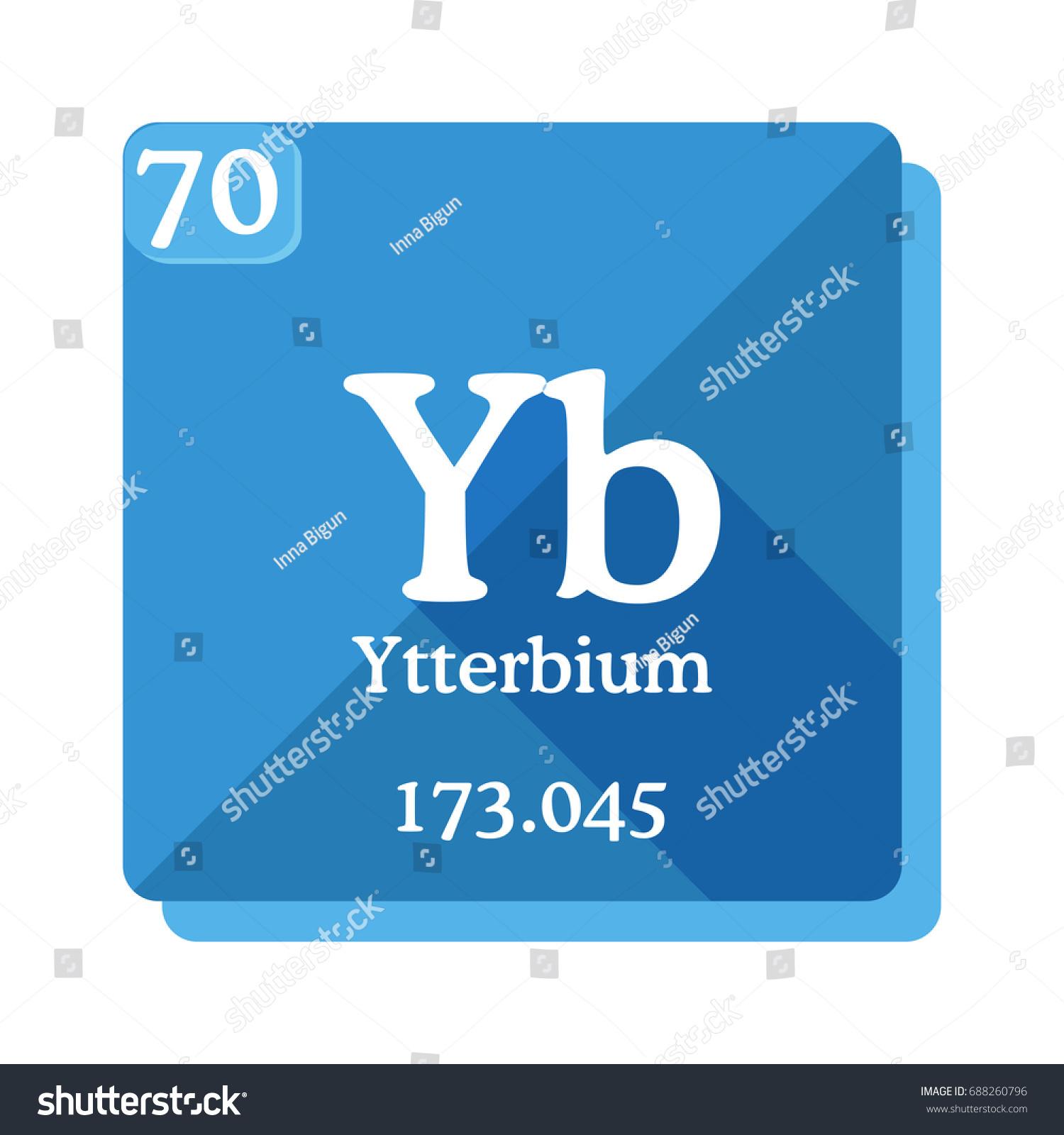 Ytterbium yb element periodic table vector stock vector hd royalty ytterbium yb element of the periodic table vector illustration in flat style urtaz Choice Image