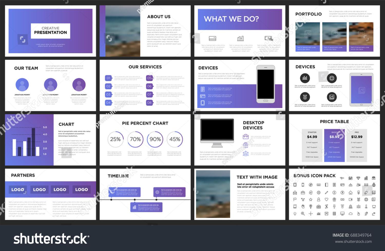 Modern Purple Blue Presentation Template You Stock Vector 688349764