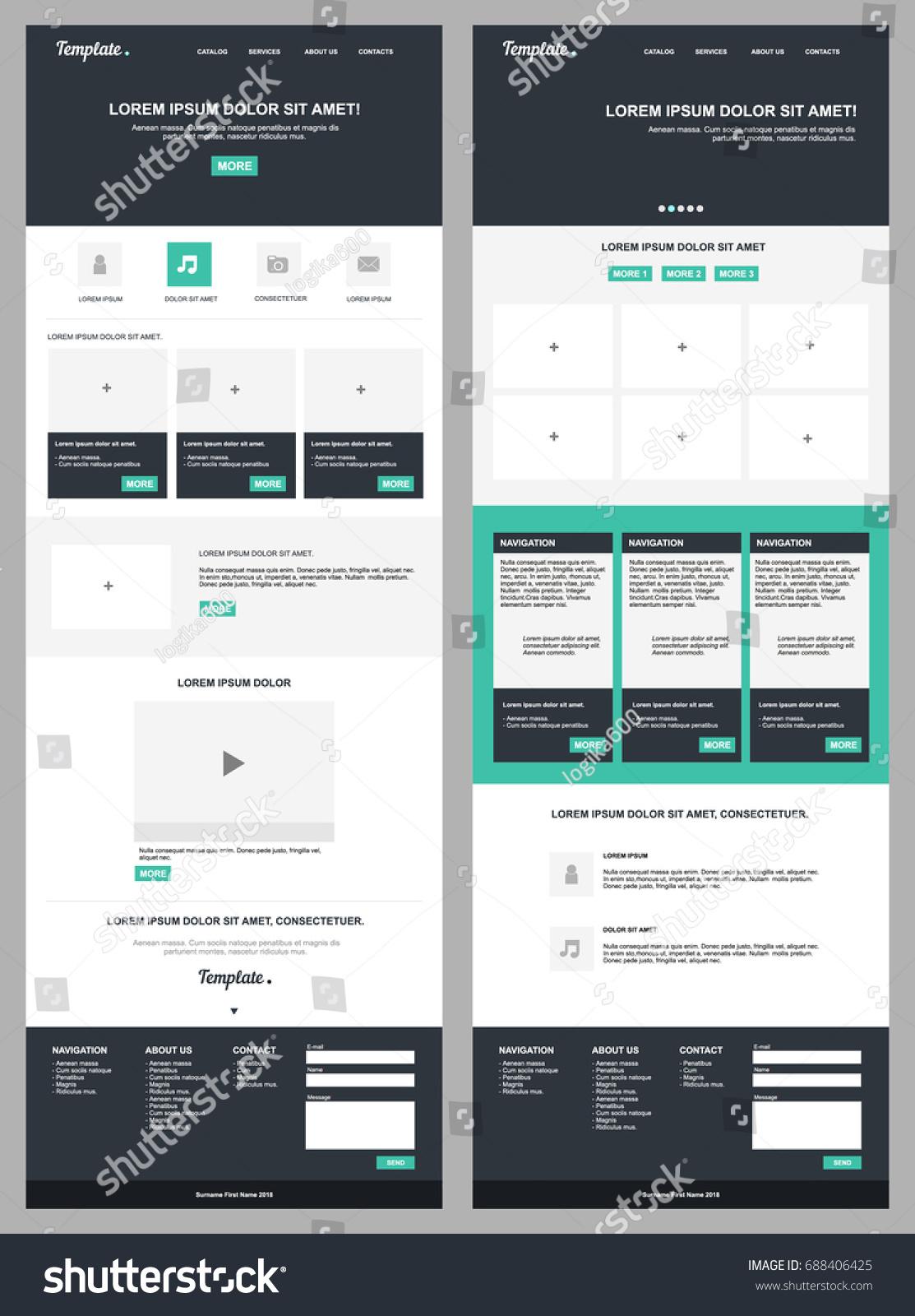 Free modern website design templates dabeetz. Com.
