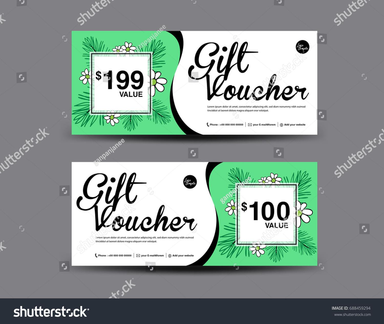 Gift Voucher Template Layout Business Flyer Stock Vector 688459294 ...