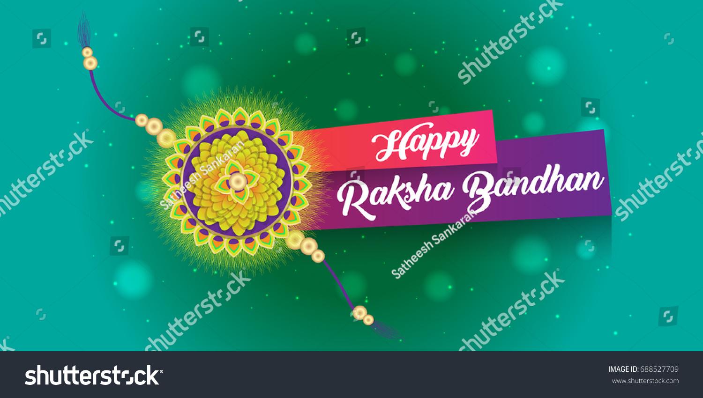 Happy Raksha Bandhan Creative Greetings Vector Stock Vector Royalty