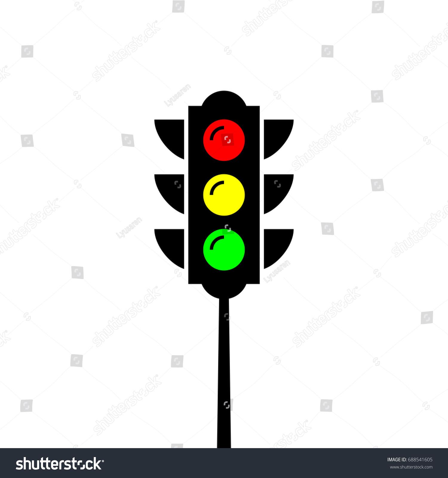 Traffic light pole red green yellow stock vector royalty free traffic light pole red green yellow light vector creative template maxwellsz