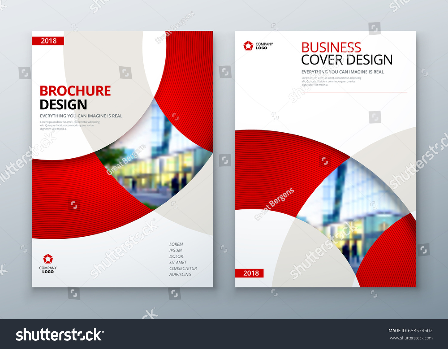 brochure template layout design corporate business stock vector