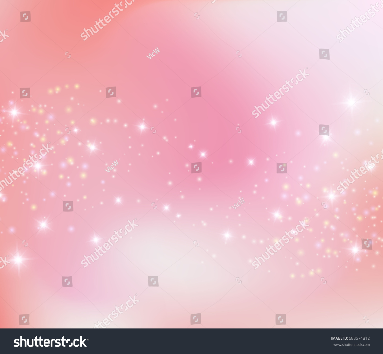 Pink Princess Sparkling Background Vector Illustration