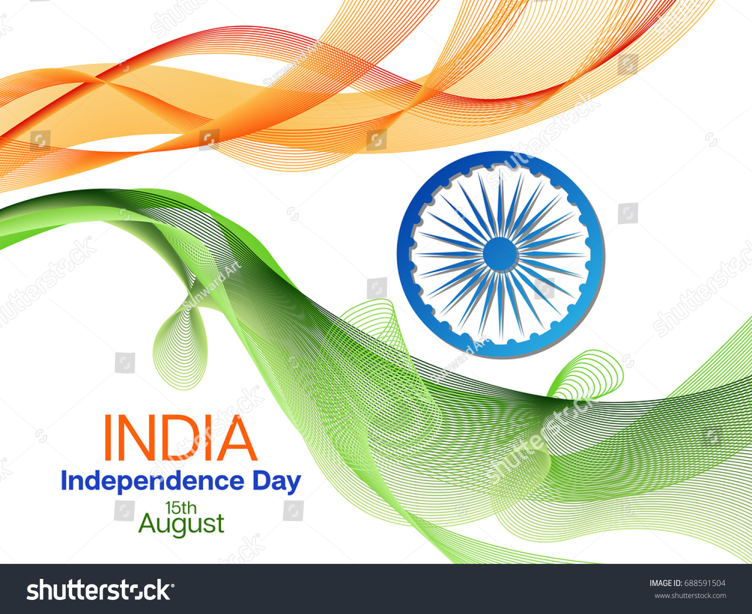 independence day india vector background 15th stock vector