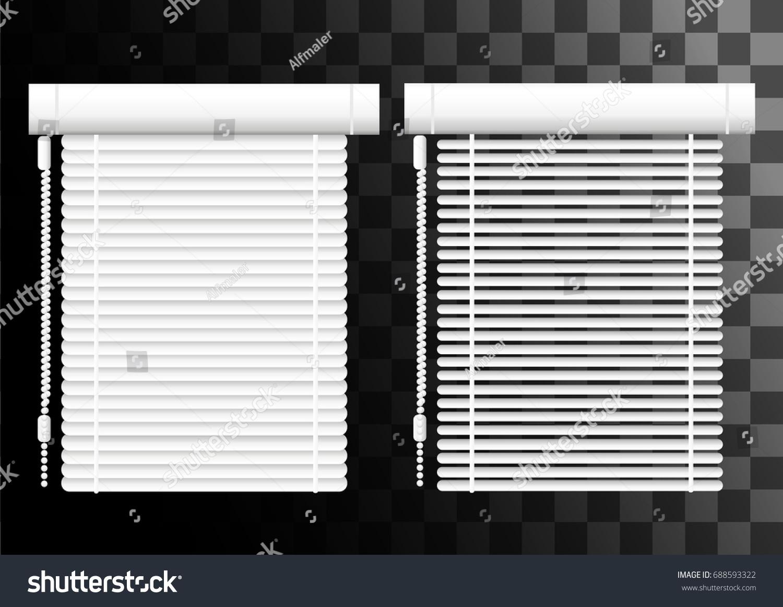 Window Shutters Office Interior Blinds Window Stock Vector