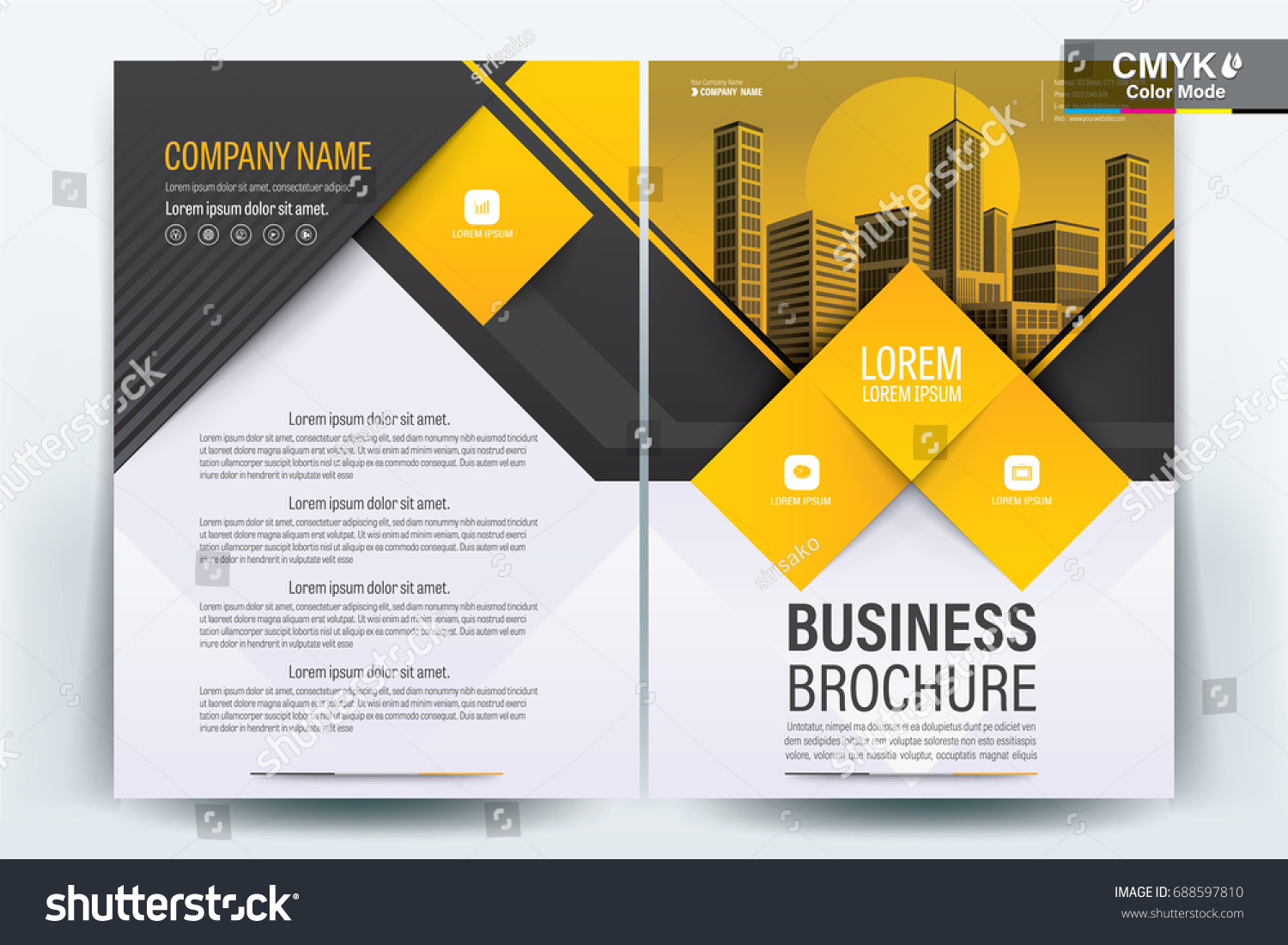 Vector Brochure Layout Flyers Design Template Stock Photo Photo