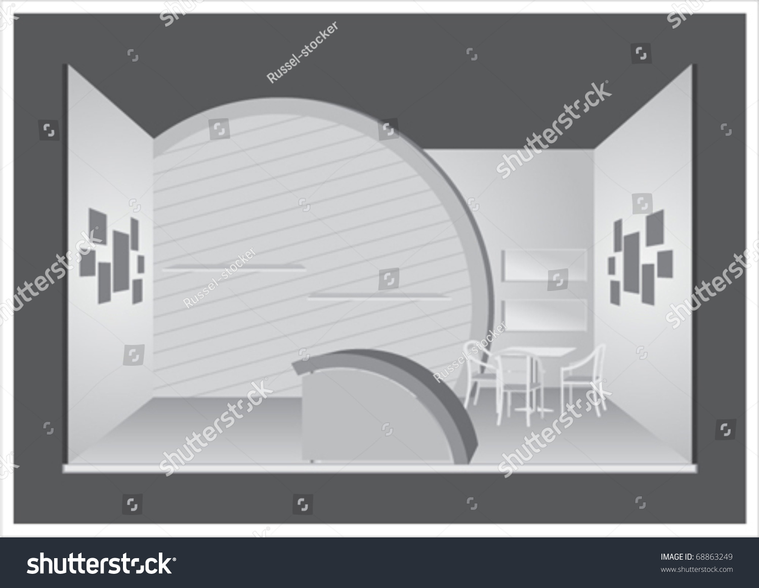 Exhibition Stand Vector : Vector exhibition stand  shutterstock