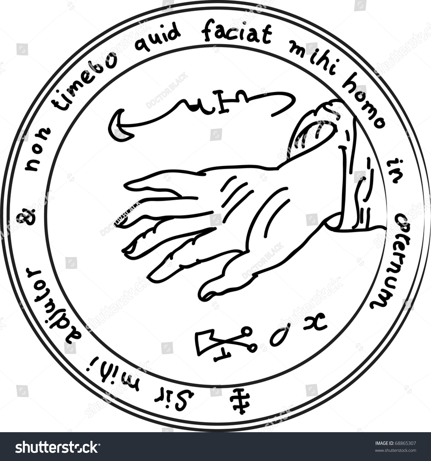 Occult ancient magic symbol vector element stock vector 68865307 occult ancient magic symbol a vector element biocorpaavc Images