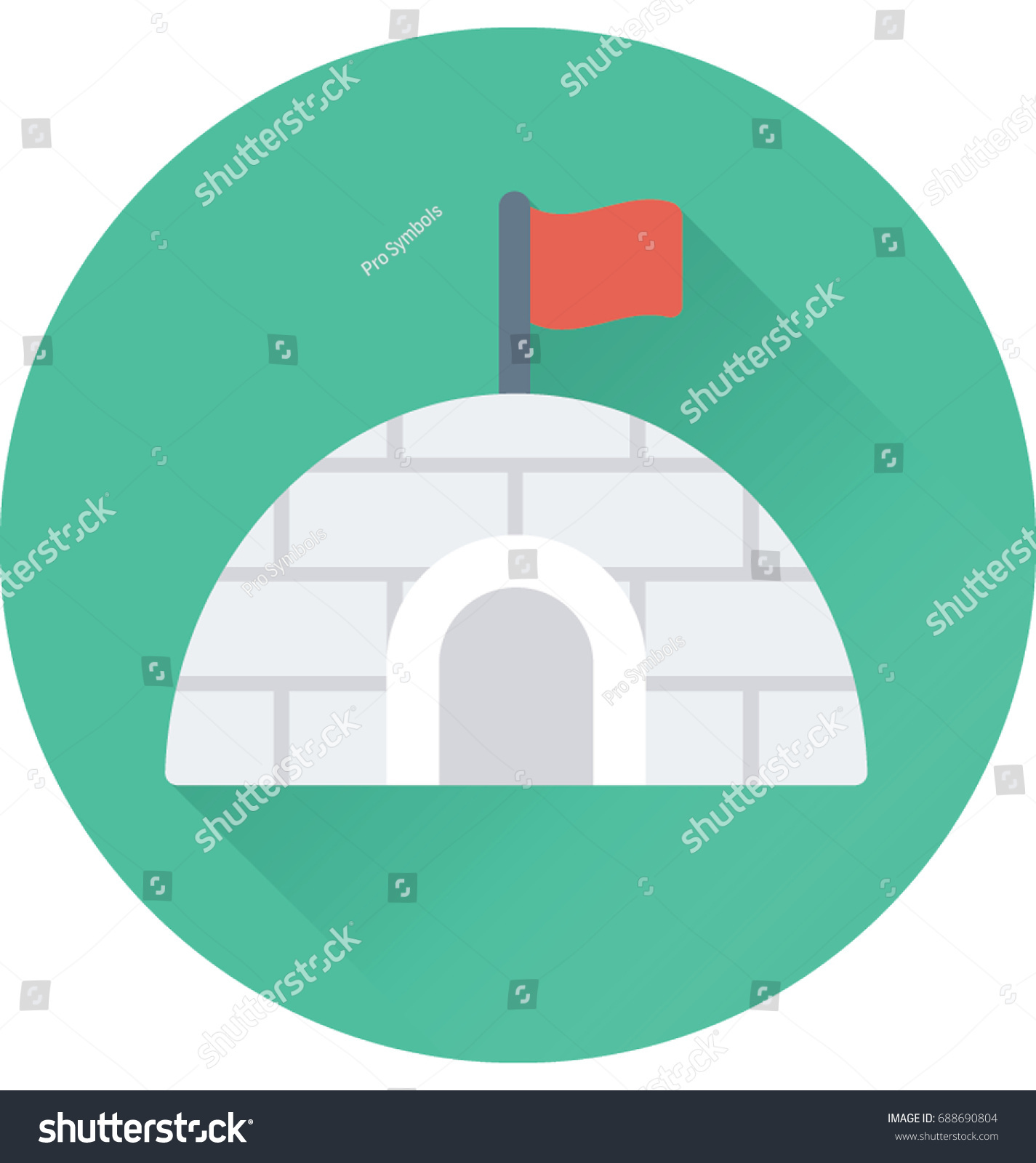 Igloo vector icon stock vector 688690804 shutterstock igloo vector icon pooptronica