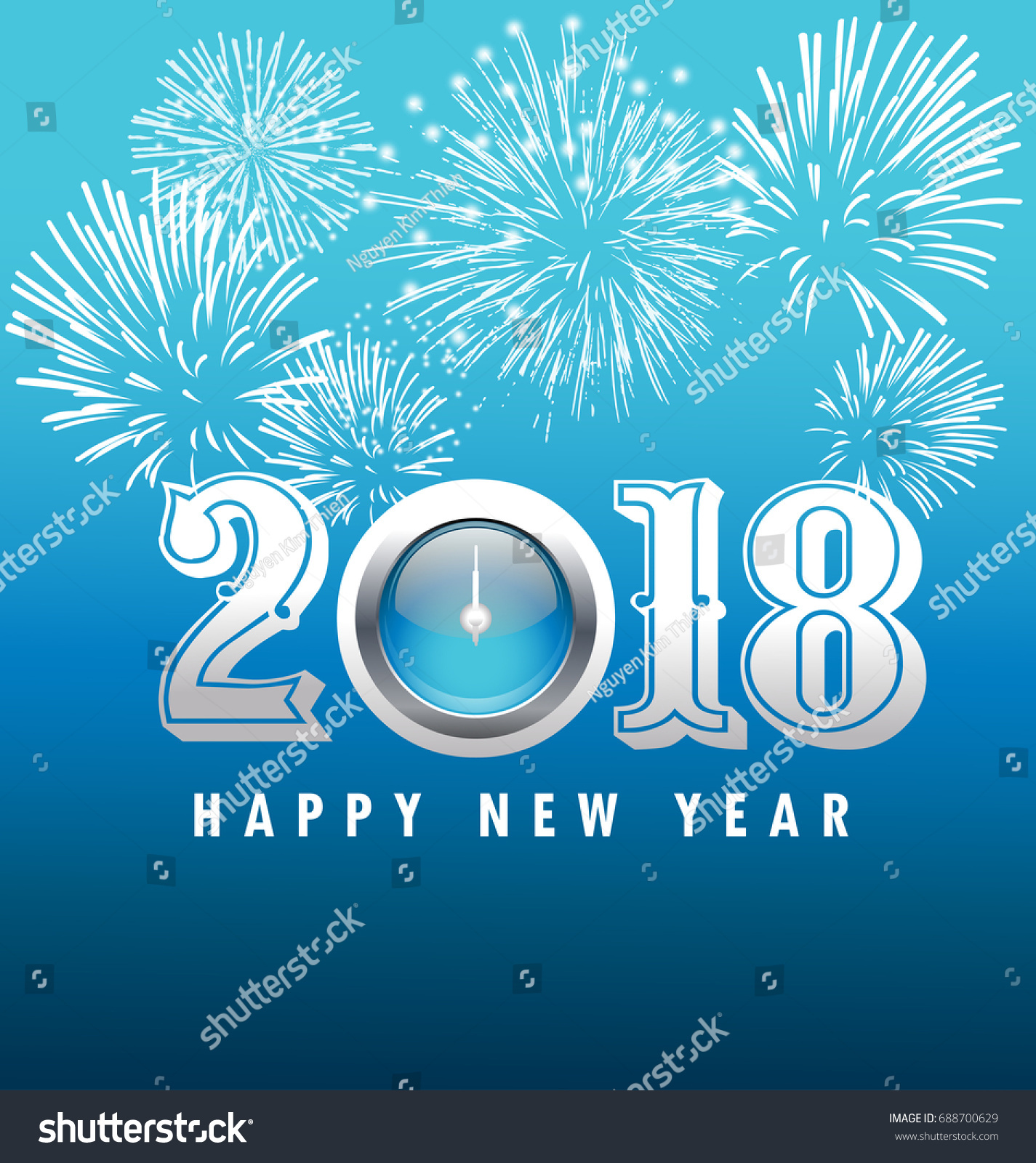Happy new year 2018 greeting card stock vector royalty free happy new year 2018 greeting card m4hsunfo