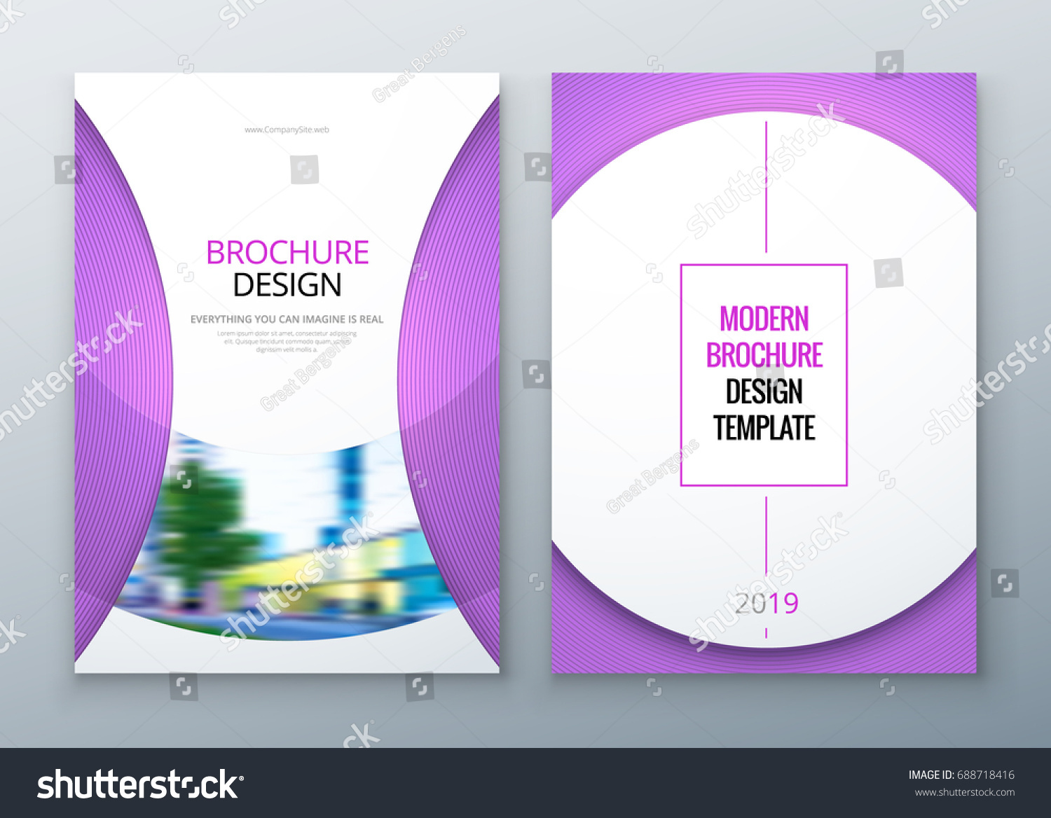 Brochure Template Layout Design Corporate Business Stock Vector ...