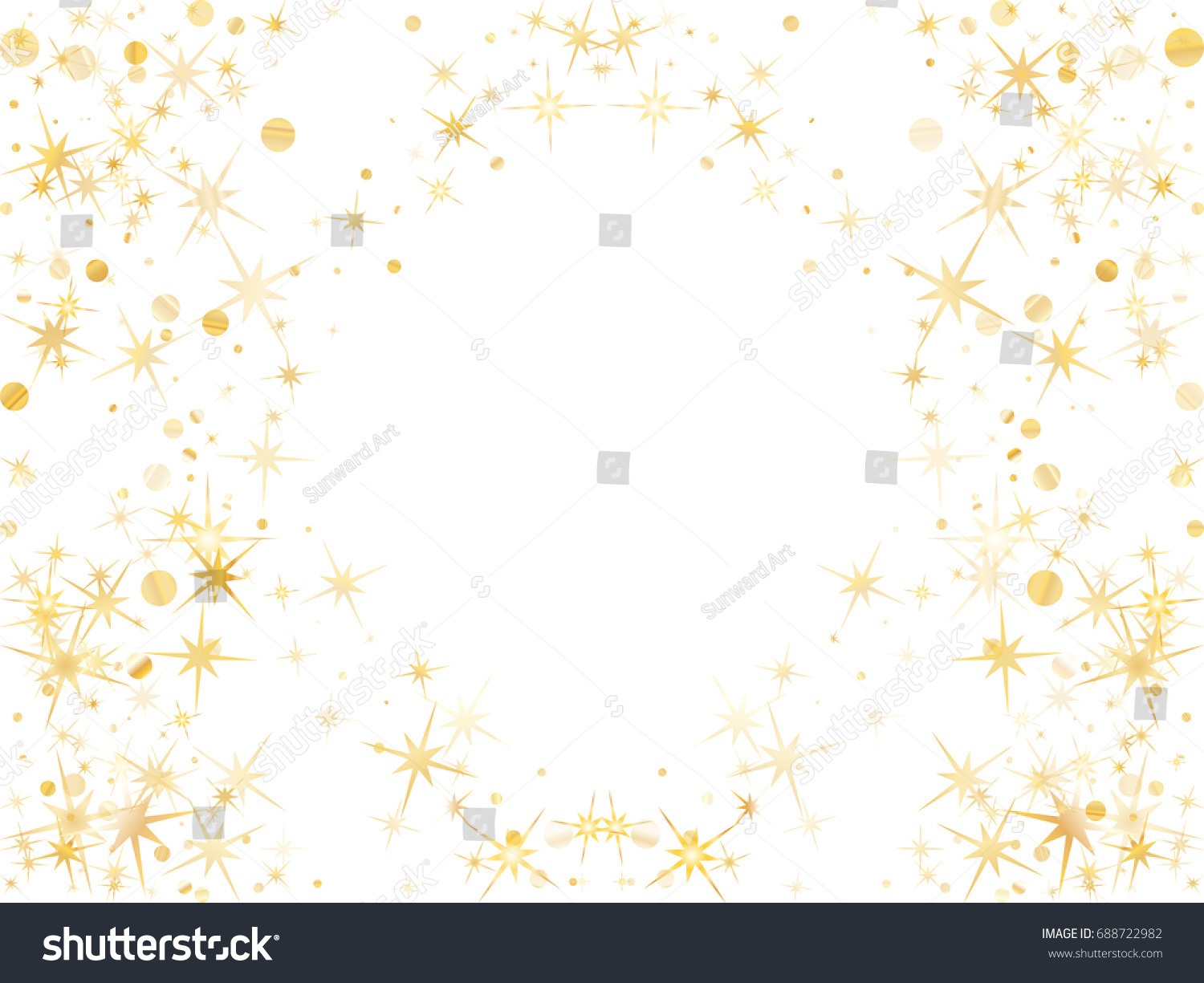 Holiday stardust frame border birthday card stock vector 688722982 holiday stardust frame of border for birthday card decorative pattern on white with golden objects bookmarktalkfo Image collections
