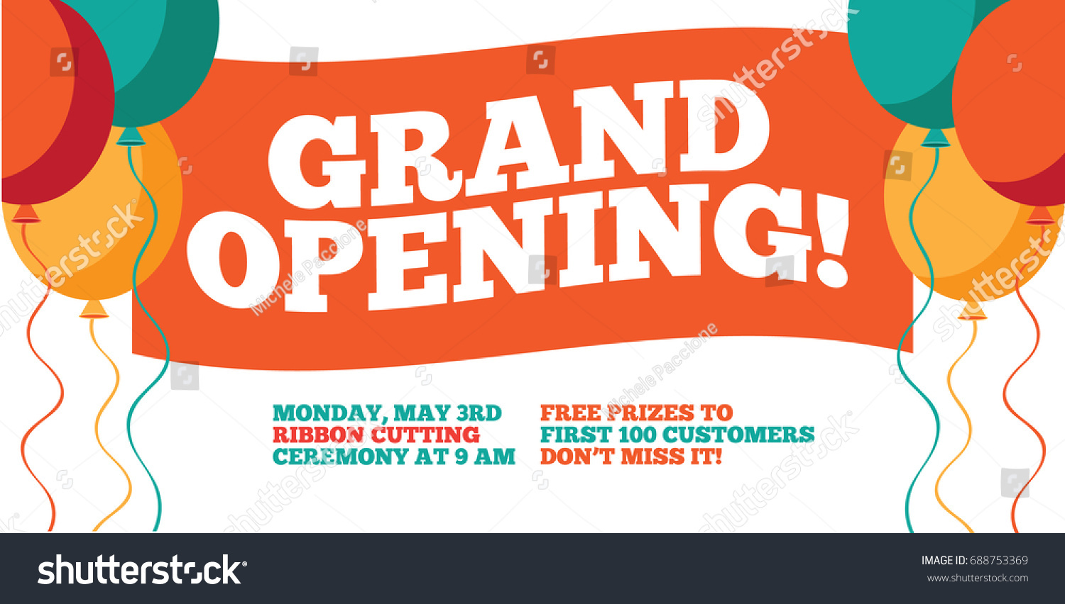 Grand Opening Flyer Marketing Banner Background Vector – Grand Opening Flyer Template