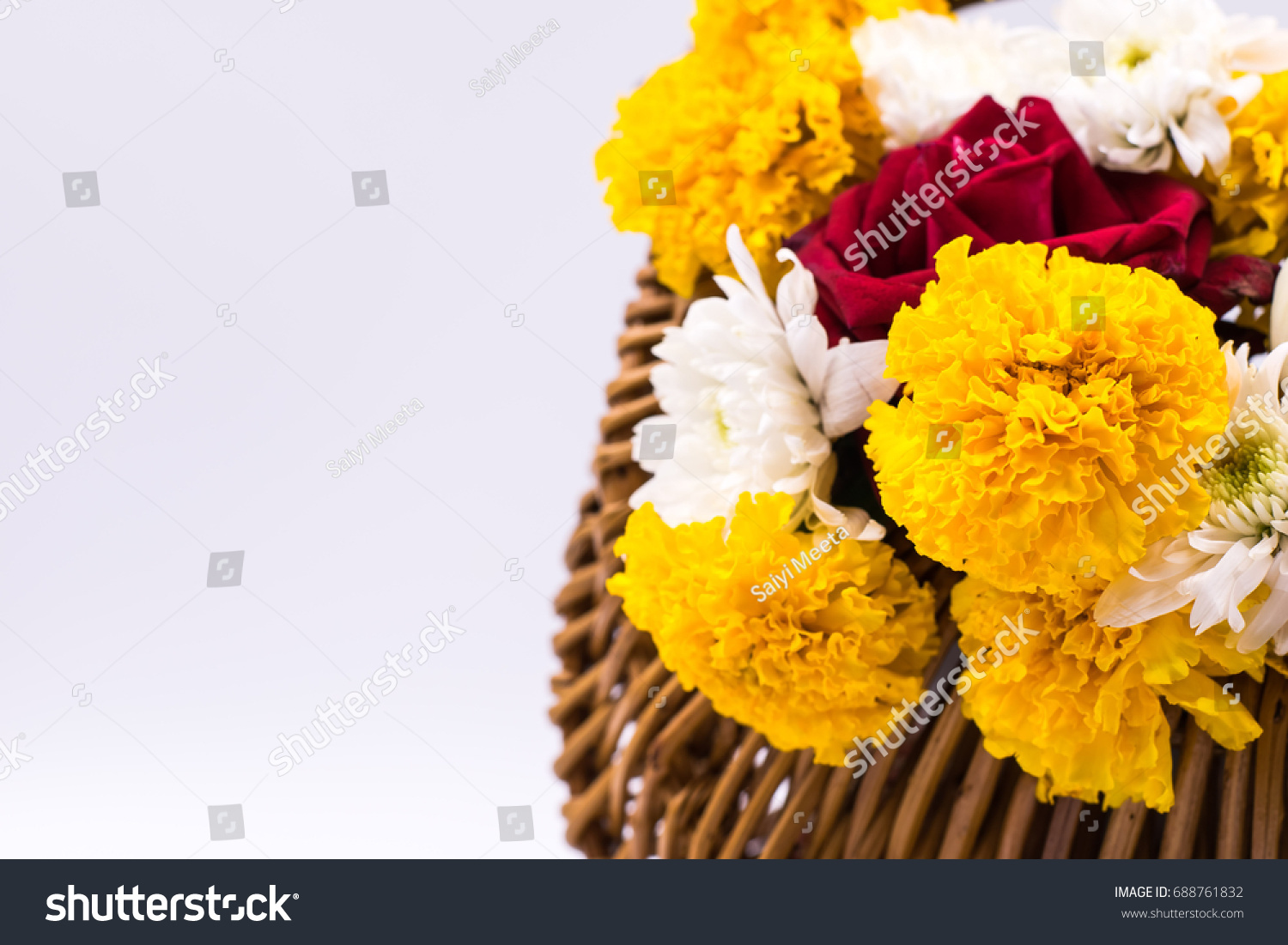 Flowers Basket Flower Basket Gift Special Stock Photo Edit Now