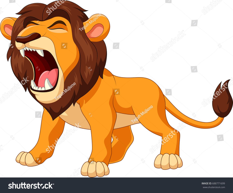 cartoon lion roaringのイラスト素材 688771699 shutterstock