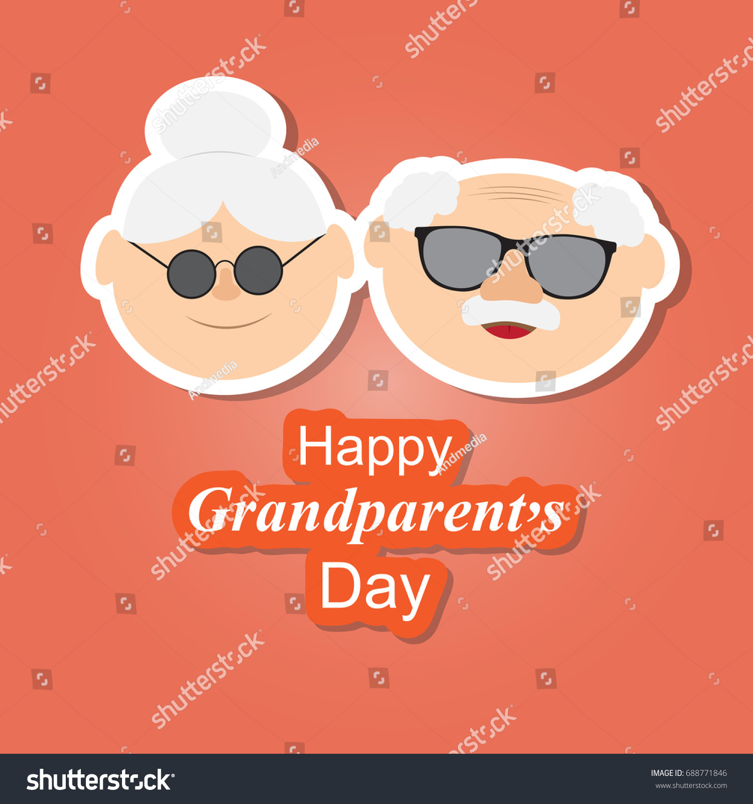 Greetings card on grandparents day phrase stock vector 688771846 greetings card on grandparents day with the phrase and face of grandfather and grandmother vector kristyandbryce Gallery
