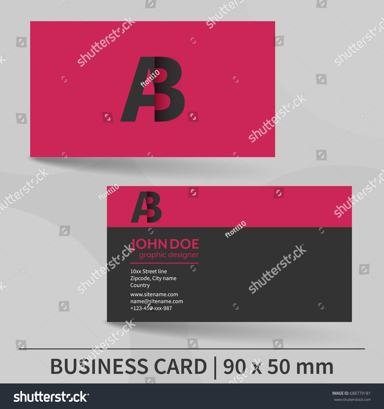 Creative Business Card Template Editable Vector Stock Vector