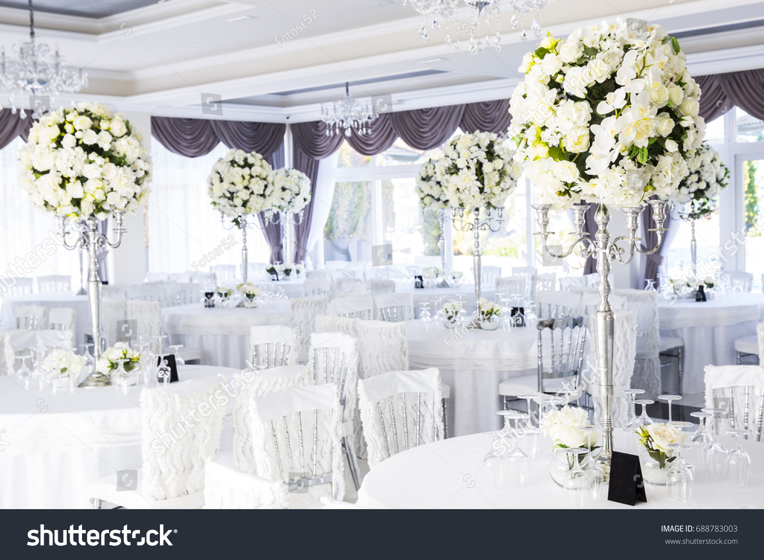 Elegant Wedding Reception Table Arrangement Floral Centerpiece Ez