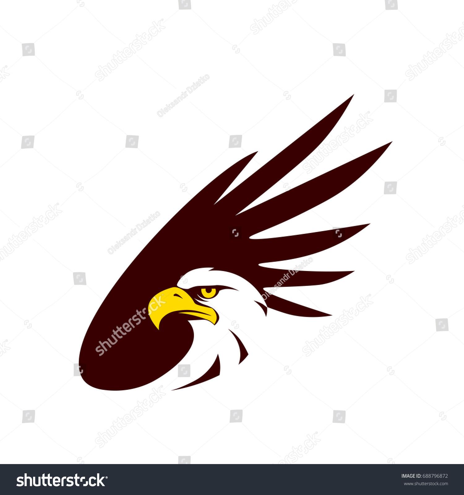 Symbol eagle hawk predator sport team stock vector 688796872 symbol of eagle hawk predator for sport team mascot company badge guard service biocorpaavc Images