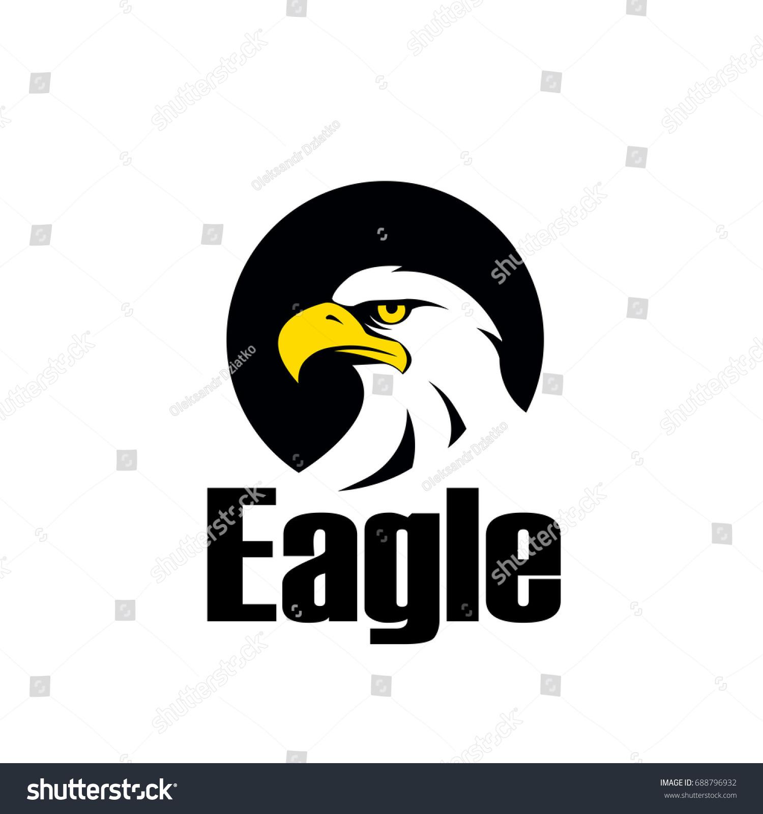 Symbol eagle hawk predator sport team stock vector 688796932 symbol of eagle hawk predator for sport team mascot company badge guard service biocorpaavc Images