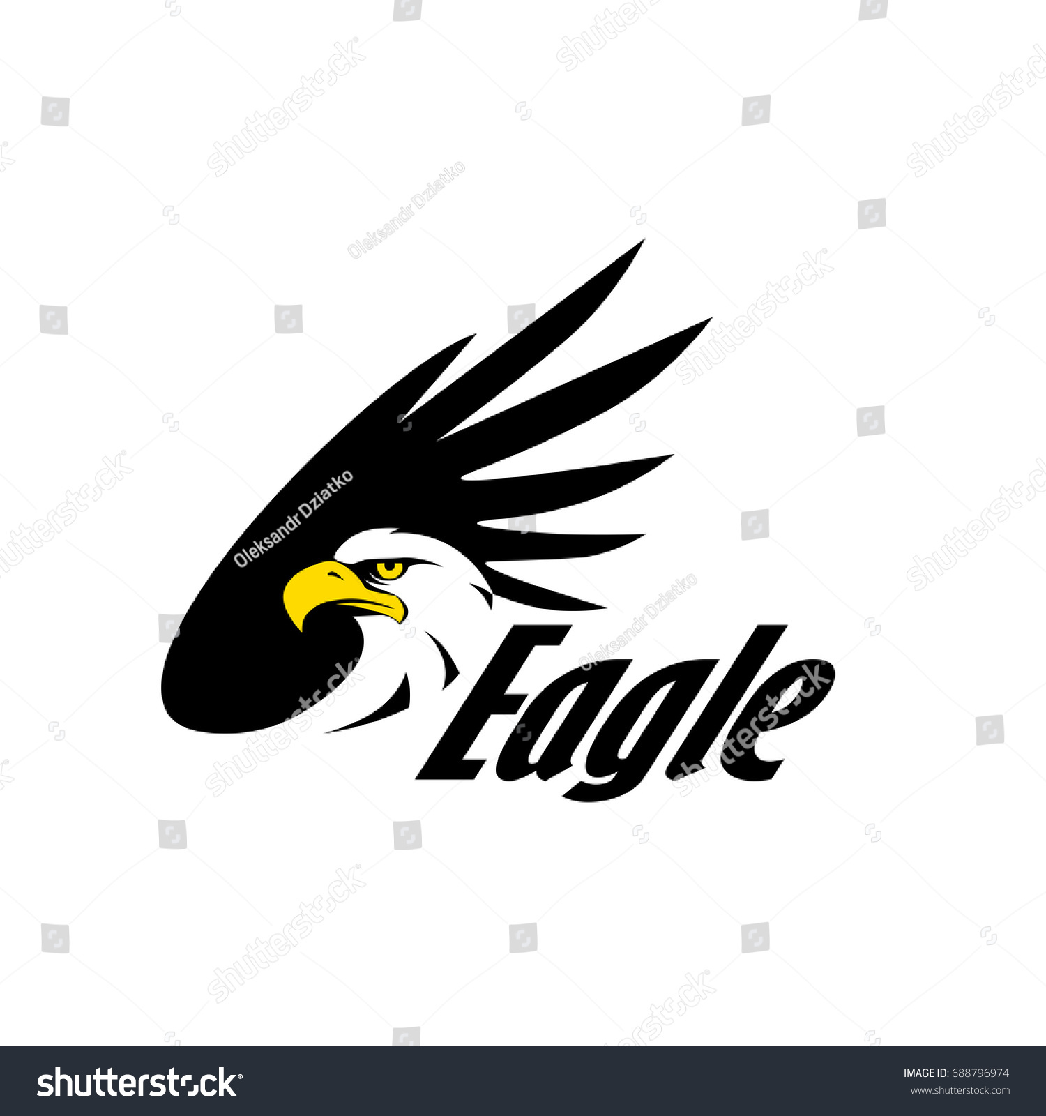 Symbol eagle hawk predator sport team stock vector 688796974 symbol of eagle hawk predator for sport team mascot company badge guard service biocorpaavc Images