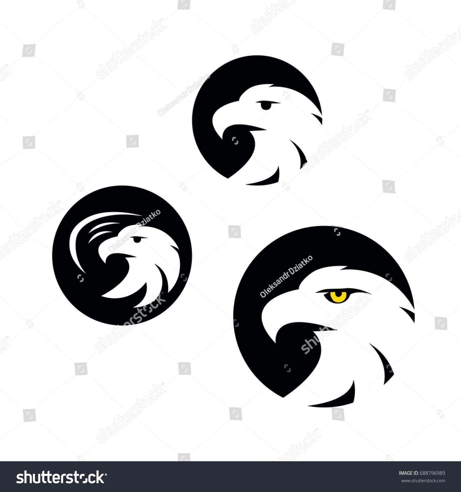 Symbol eagle hawk predator sport team stock vector 688796989 symbol of eagle hawk predator for sport team mascot company badge guard service biocorpaavc Images