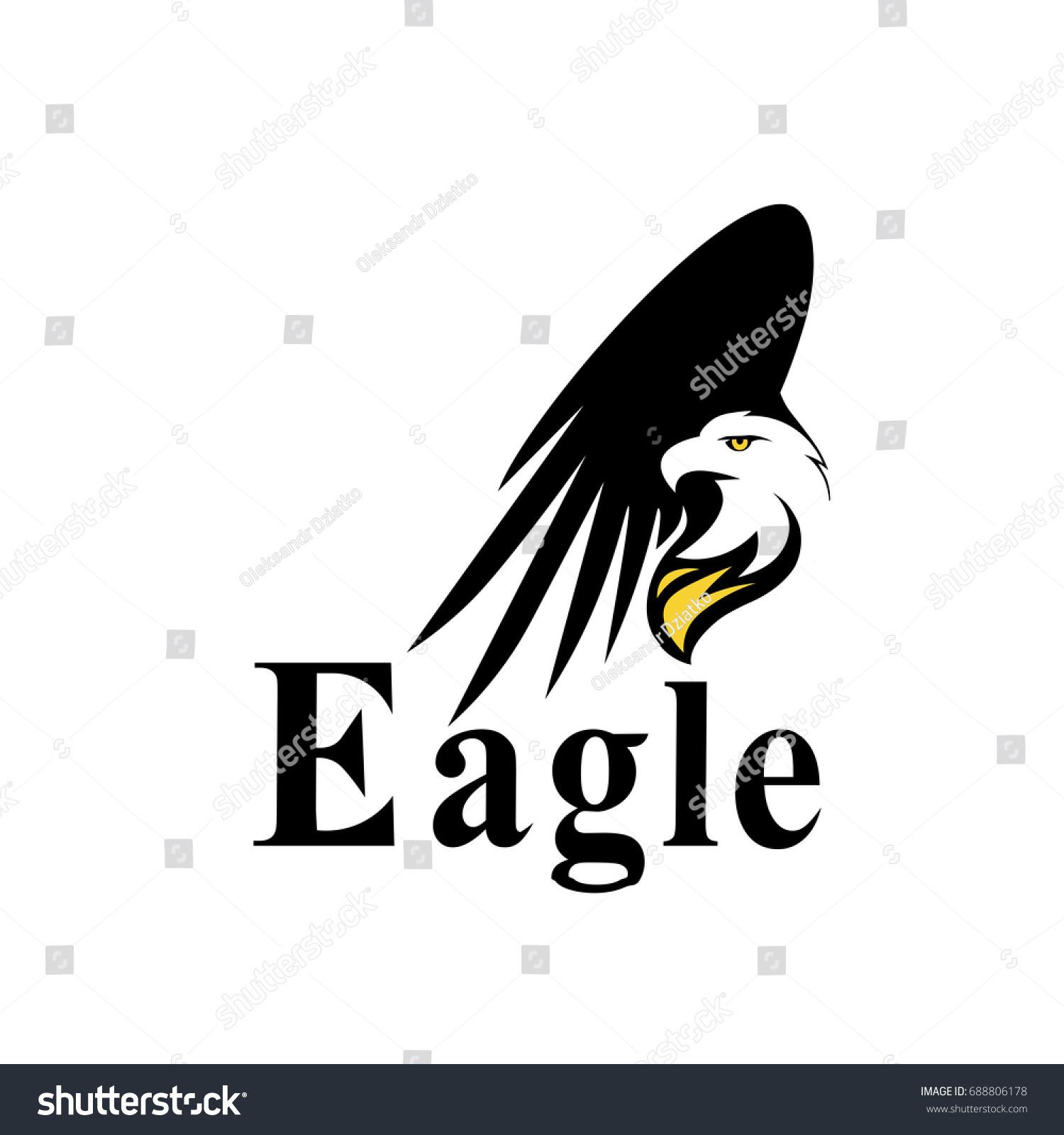 Fire eagle icon symbol eagle hawk stock vector 688806178 fire eagle icon symbol of eagle hawk predator for sport team mascot company badge biocorpaavc Images