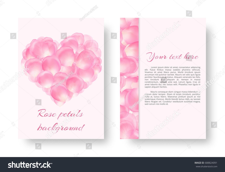 Celebratory Background A 4 Format Rose Petals Stock Illustration