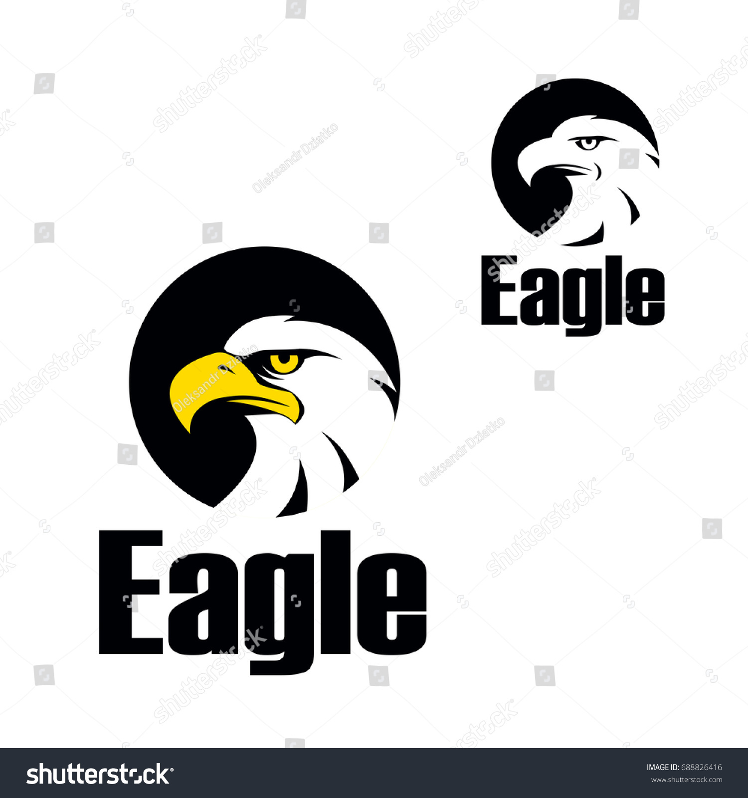 Eagle icon symbol eagle hawk predator stock vector 688826416 eagle icon symbol of eagle hawk predator for sport team mascot biocorpaavc Images